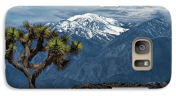 Galaxy Case featuring the photograph Joshua Tree At Keys View In Joshua Park National Park by Randall Nyhof