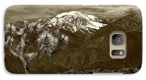 Galaxy Case featuring the photograph Joshua Tree At Keys View In Sepia Tone by Randall Nyhof