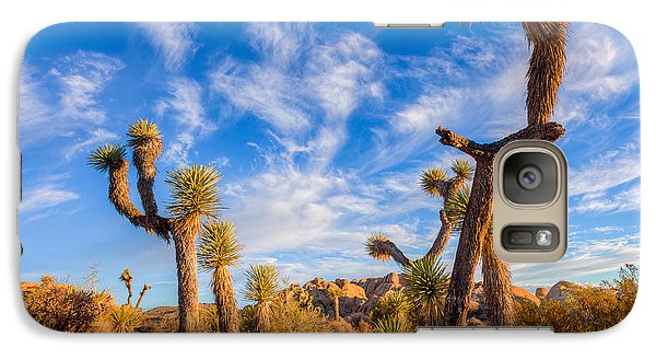 Galaxy S7 Case featuring the photograph Joshua Tree Dawn by Rikk Flohr