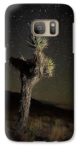 Galaxy Case featuring the photograph Joshua Tree Starred by Allen Biedrzycki