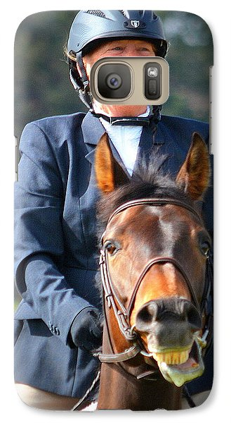 Galaxy Case featuring the photograph Joy... by Barbara Dudley