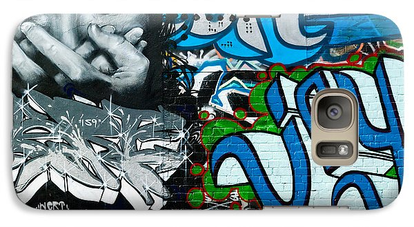 Galaxy Case featuring the painting Joy Graffiti Wall  by Yurix Sardinelly