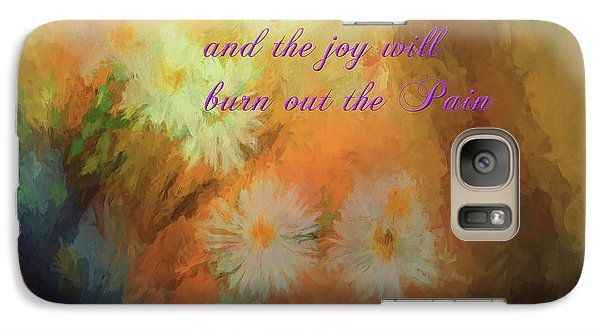 Galaxy Case featuring the mixed media Joy by Jim  Hatch