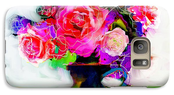 Galaxy Case featuring the painting Joy by Linde Townsend