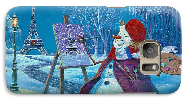 Galaxy Case featuring the painting Joyeux Noel by Michael Humphries
