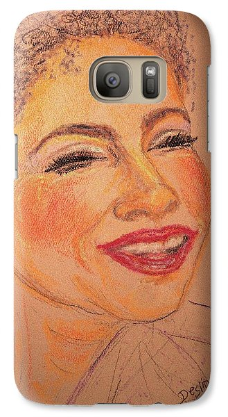 Galaxy Case featuring the drawing Joyful by Desline Vitto