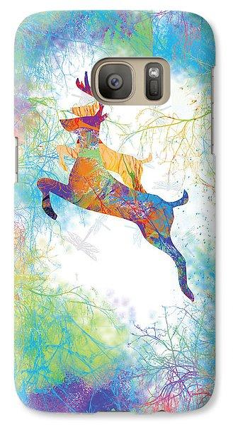 Galaxy Case featuring the digital art Joyful Leaps by Trilby Cole