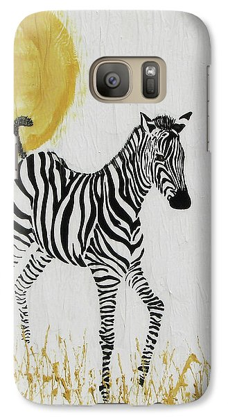 Galaxy Case featuring the painting Joyful by Stephanie Grant