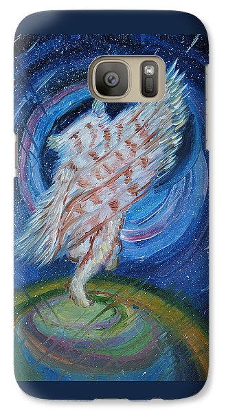 Galaxy Case featuring the painting Joyfully My Father Comes To See Me by Dawn Senior-Trask
