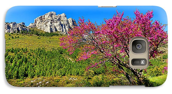 Galaxy Case featuring the photograph Judas Tree In Sainte Baume by Olivier Le Queinec