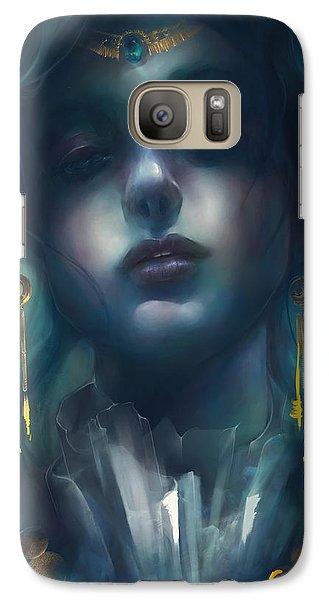 Galaxy Case featuring the digital art Judith V1 by Te Hu