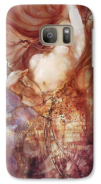Galaxy Case featuring the digital art Judith V2 by Te Hu