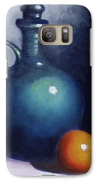 Galaxy Case featuring the painting Jug And Orange. by Gene Gregory