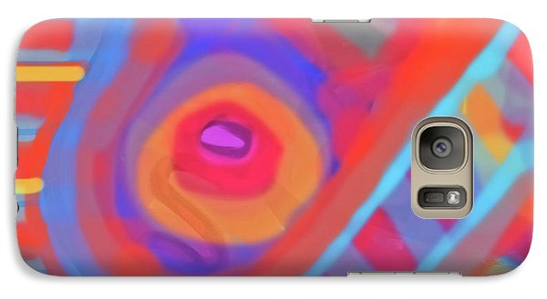 Galaxy Case featuring the painting Juicy Colored Abstract by Susan Stone