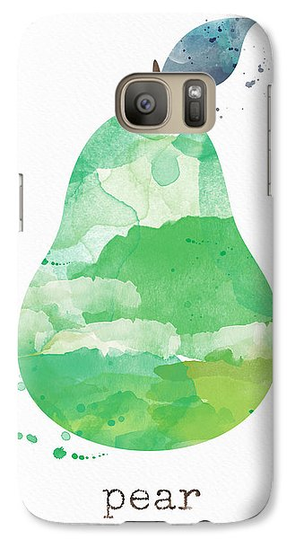 Fruits Galaxy S7 Case - Juicy Pear by Linda Woods