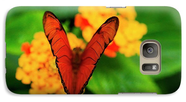Galaxy Case featuring the photograph Julia Butterfly, Dryas Iulia by Ralph A Ledergerber-Photography