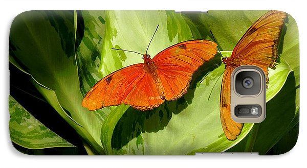 Galaxy Case featuring the photograph Julia Butterfly Pair by Rosalie Scanlon