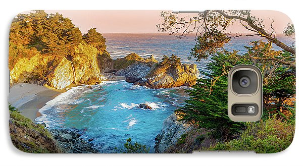 Galaxy Case featuring the photograph Julia Pfeiffer Burns State Park Mcway Falls by Scott McGuire