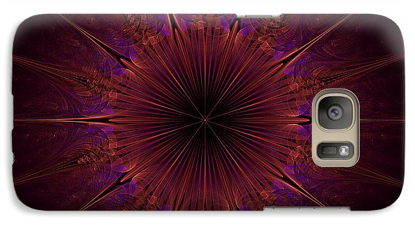 The Violet Blessings Of The Crown Chakra Galaxy S7 Case