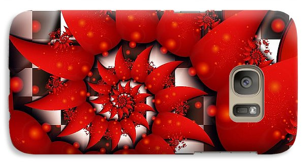 Galaxy Case featuring the digital art Julias Summer Red by Michelle H