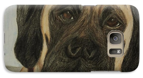 Galaxy Case featuring the drawing Julie's Dog Lounging by Christy Saunders Church