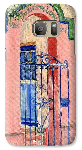 Galaxy Case featuring the painting Juliette Low Garden Gate Savannah by Doris Blessington