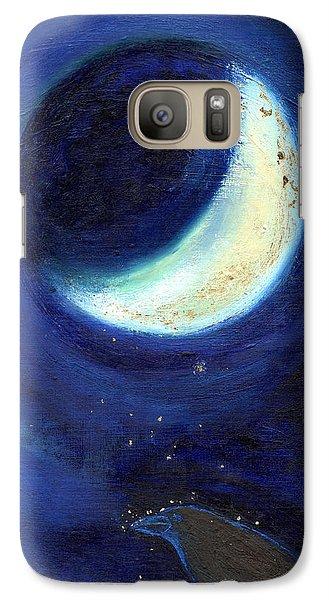 July Moon Galaxy Case by Nancy Moniz