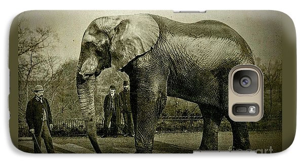 Galaxy Case featuring the photograph Jumbo The Elepant Circa 1890 by Peter Gumaer Ogden