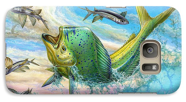 Jumping Mahi Mahi And Flyingfish Galaxy S7 Case
