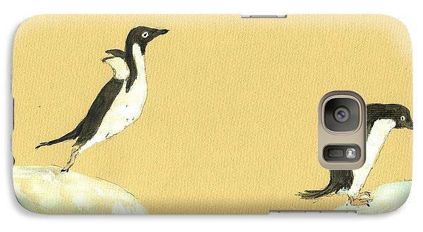 Penguin Galaxy S7 Case - Jumping Penguins by Juan  Bosco