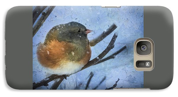 Galaxy Case featuring the digital art Junco On Winter Day by Christina Lihani