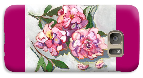 Galaxy Case featuring the painting June Peonies by Susan Thomas