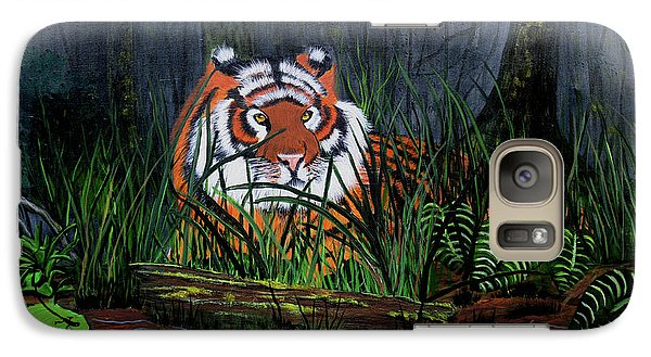 Galaxy Case featuring the painting Jungle Cat by Myrna Walsh