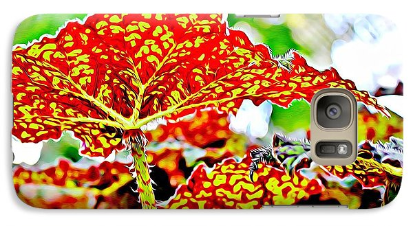 Galaxy Case featuring the photograph Jungle Leaf by Mindy Newman