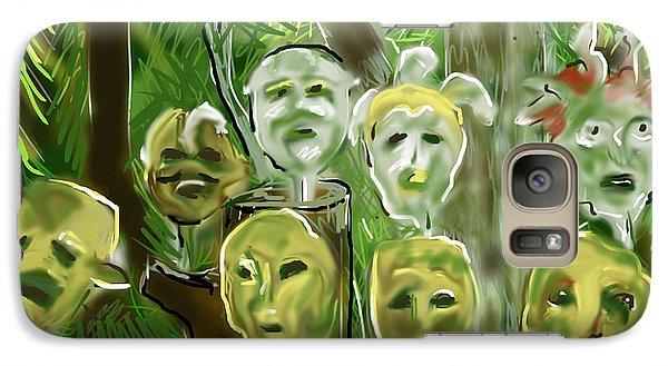 Galaxy Case featuring the digital art Jungle Spirits by Jean Pacheco Ravinski