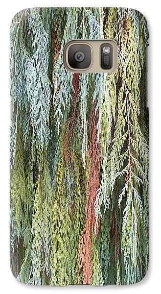 Galaxy Case featuring the photograph Juniper Leaves - Shades Of Green by Ben and Raisa Gertsberg