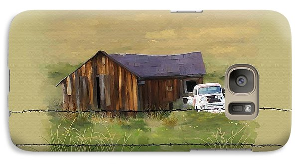 Galaxy Case featuring the painting Junk Truck by Susan Kinney