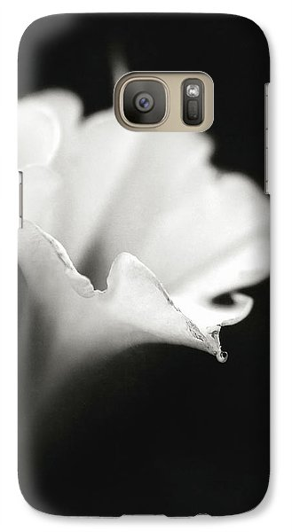 Galaxy Case featuring the photograph Just A White Flower by Eduard Moldoveanu