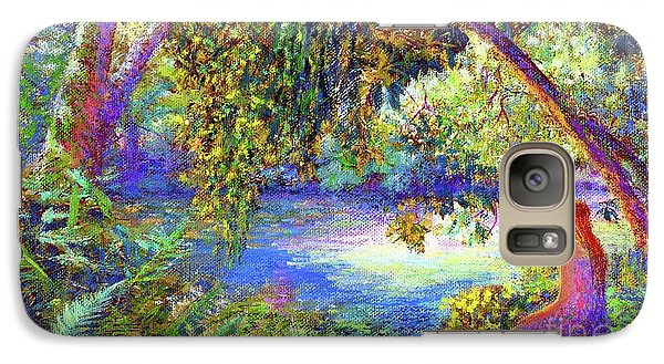 Galaxy Case featuring the painting Just Be by Jane Small