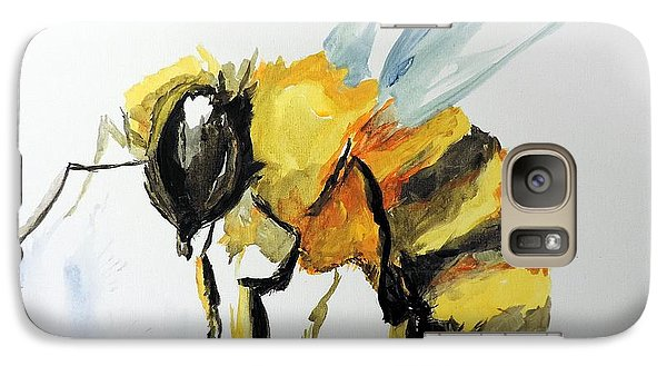 Galaxy Case featuring the painting Just Beecause by Tom Riggs