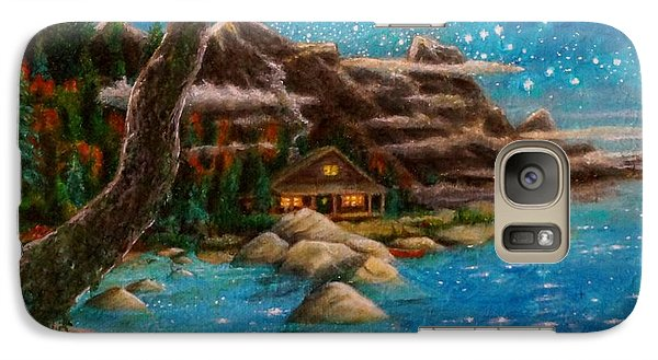 Galaxy Case featuring the painting Just Before Dawn by Matt Konar