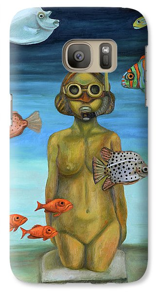 Galaxy Case featuring the painting Just Breathe by Leah Saulnier The Painting Maniac