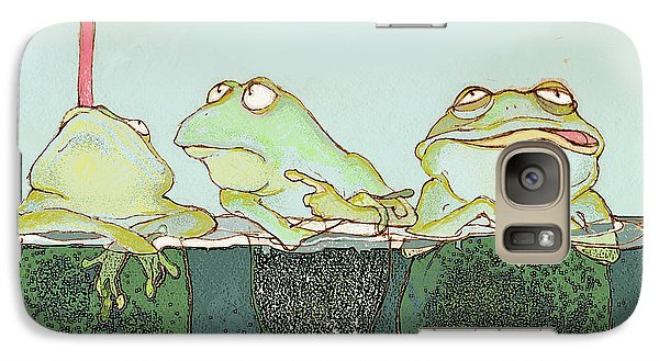 Just Hanging Galaxy Case by Peggy Wilson