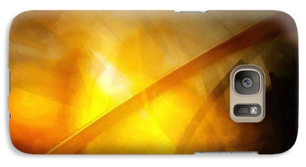 Galaxy Case featuring the digital art Just Light by Gun Legler