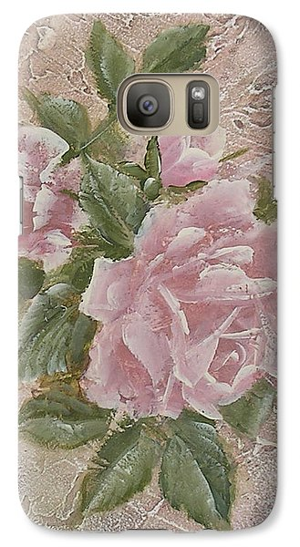 Galaxy Case featuring the painting Just Roses by Chris Hobel