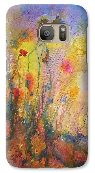 Galaxy Case featuring the painting Just Weeds by Mary Schiros