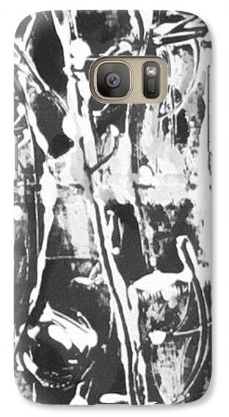 Galaxy Case featuring the painting Justice by Carol Rashawnna Williams