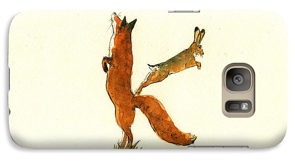 K Letter Woodland Alphabet Galaxy Case by Juan  Bosco