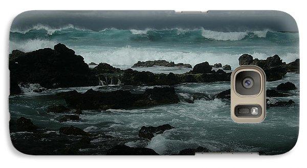 Ka Makani Kaiili Aloha Hookipa Maui Hawaii  Galaxy S7 Case by Sharon Mau