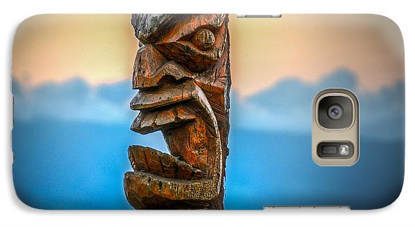 Galaxy Case featuring the photograph Ka'anapali Tiki by Kelly Wade